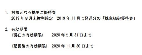 (コロナ)ミニストップ株主優待延長