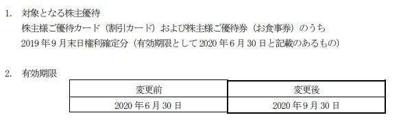 (コロナ)力の源株主優待期限延長