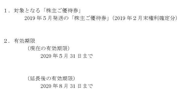 (コロナ)カルラ株主優待期限延長