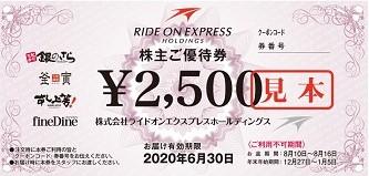 ライドオン・エクスプレス株主優待券