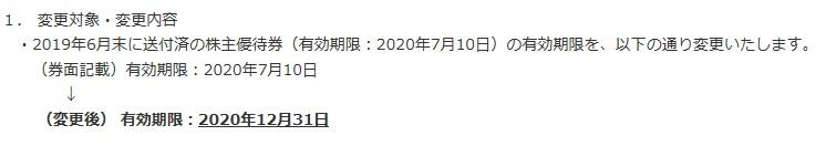 リゾートトラスト株主優待期限延長
