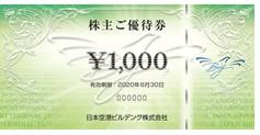 日本空港ビルデング株主優待券