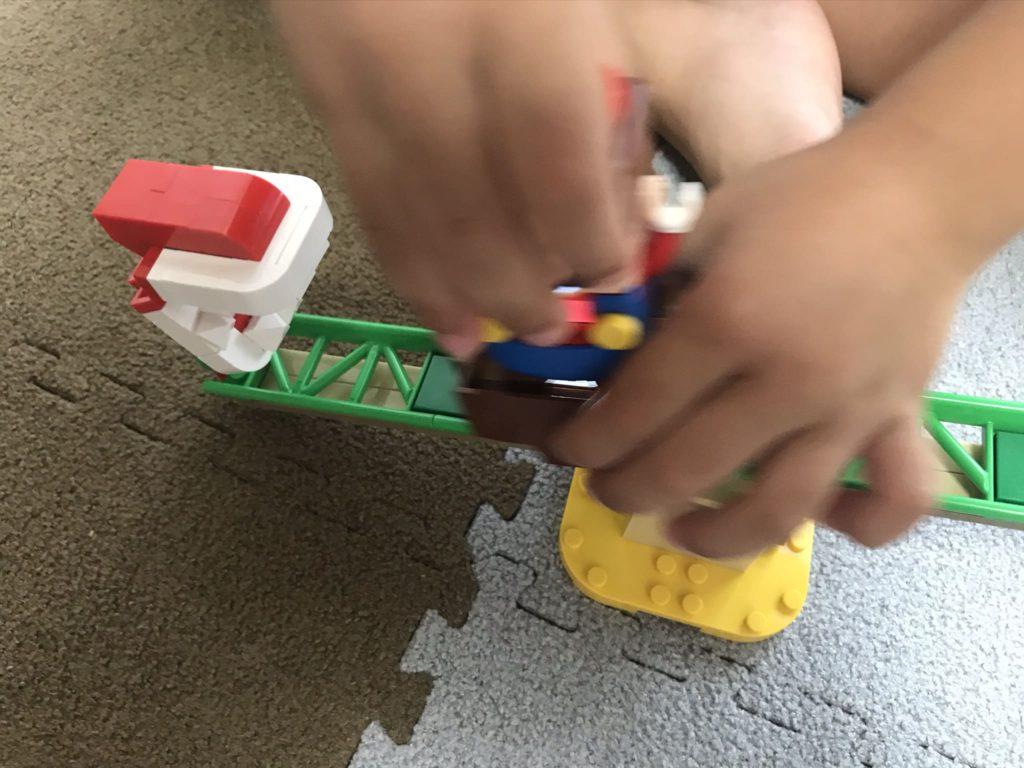 レゴマリオパックンフラワーのバランスチャレンジで遊ぶ