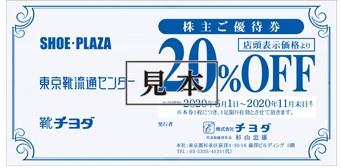 チヨダ株主優待券