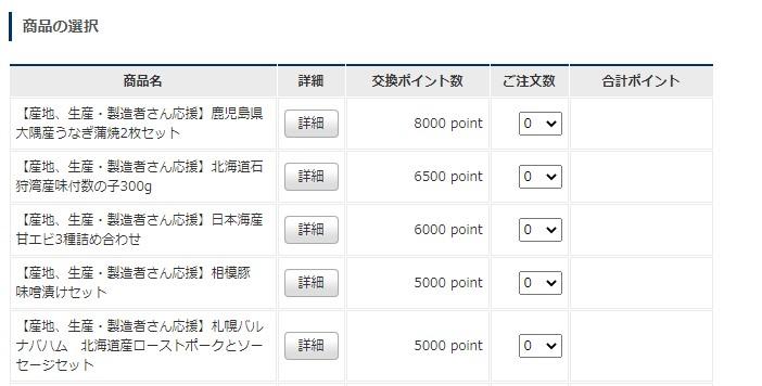コロワイド株主様ご優待サイトお申込み画面
