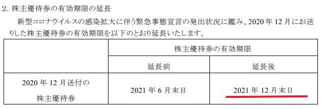 KNT株主優待期限延長情報