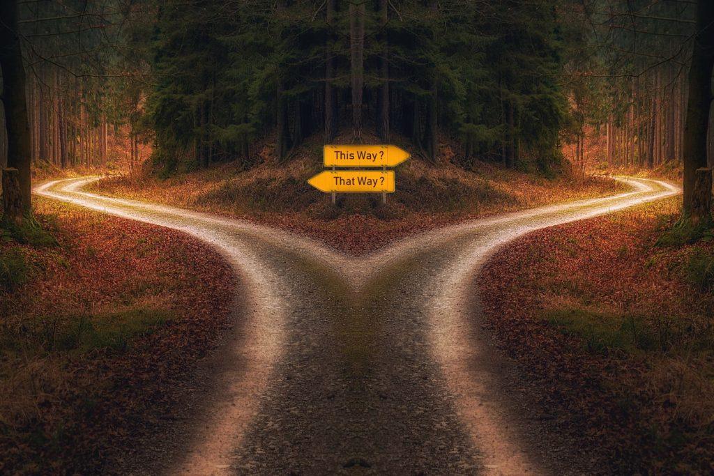 決断道の分岐点