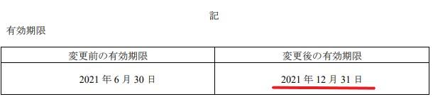 APHD株主優待期限延長情報202112