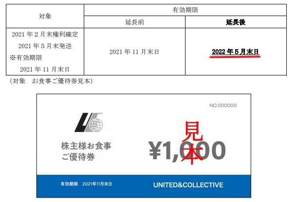 U&C株主優待期限延長情報202205_1