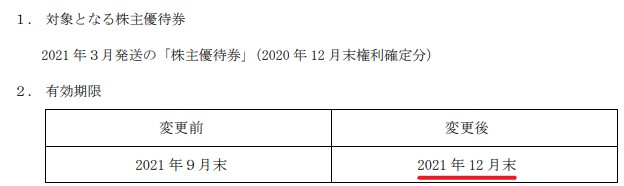 三光マーケティングフーズ株主優待期限延長情報202112